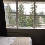 We had a view of the mountains - a sweet deal up for Banff