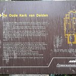 sign explaing about the building and its origins (only in Dutch), the 1100s.