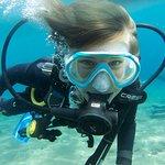 Daughter diving