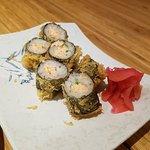 Salmon roll tempura (I think)