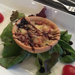 Yummy Bacon Tart for starter