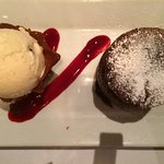 Chocolate souffle is divine