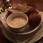 Black Truffle Arancini- most delicious balls I ever put in my mouth!