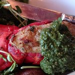 Stuffed lobster tail with pesto