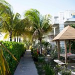 The garden of the Grand Turk Inn