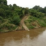 The river that needs to be crossed to go on game drives!