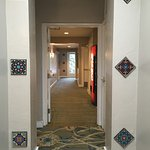 3rd floor hallway, tiling detail