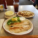 Grilled trout.