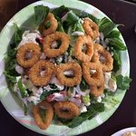 Second visit, solid, fast foodish Greek restaurant.  Calamari salad was a daily special.  That a