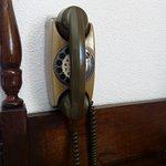 Telephone de chambre. On est loin de l'iphone.
