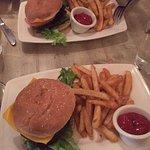 Vegan Burger and Fries