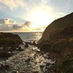 Sunset on welcombe beach.