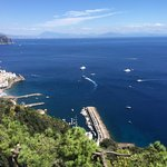 View from the Hotel across the Amalfi coast and the south of the bay of Naples