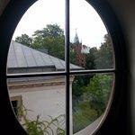 View from Window to Na Grodku street