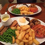 Our vegetarian mixed grill, fantastic ! Great place for veggies in Ironbridge.