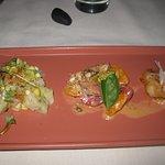 Hamachi Poke, octopus, scallop