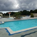 Two pools on site. Luckily the weather improved a lot! Very clean area and the kids loved it.