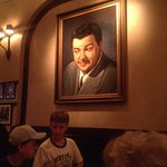 We were seated right below Lou Costello's picture. Not one under 17 knew who he was.