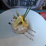 Rillettes de poisson maison (entrée du menu à 19€90)