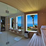 Sauna with sea view