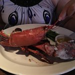 The Keg with Prime Rib and lobster.