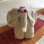 Beautiful bedroom & beautiful Nellie the Elephant Towels!!