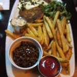 Fish cakes with fries ... Apologies for the fuzzy pic