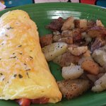 Western Omelette with Breakfast Potatoes