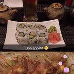 takoyaki un peu déçu, maki un délice