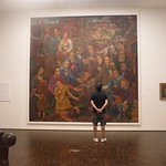 There are plenty of paintings to view throughout the galleries. This was one of the biggest