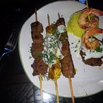 Mixed Skewer Plate with Yogurt Sauce