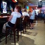 The congenial bar area.