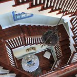 The grand stair case to the rooms