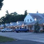 Hyland Motor Inn as evening falls.