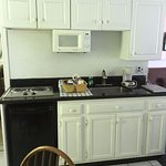 In addition to the full-size fridge, our kitchenette also had a dorm size one under the range.