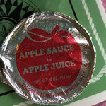 This is the kind of applesauce they serve!