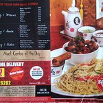 One side of the flyer, that motivated us to try the Berco's Connaught Place joint