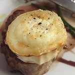 Veal with goats cheese