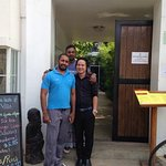 With Hotel manager Mr Sok and My Frined