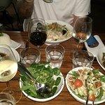 Steamed Barramundi and side salads