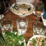 Laksa and side salads