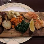 Cedar planked maple salmon- YUM I'd definitely order this again!