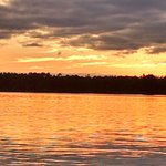 Sunset from dock - Cabin 3