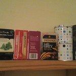 choice of teas provided.