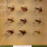Hand tied flies in the Salmon Museum