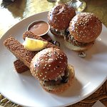 Lamb Sliders with Hummus Fries (highly recommend!)