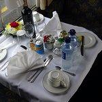 Table set for diinner