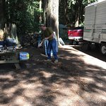 Cleaning our own campground!