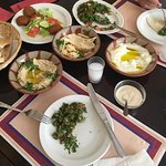 Perfect set of Lebanese mezze