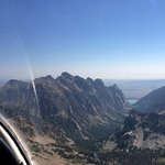 View of Jackson Lake in the distance from the sailplane